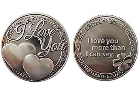 Groupon Goods Global GmbH - Sentimental Quote Keepsake Lucky Coins - Save 81%