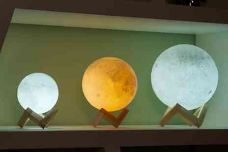 Groupon Goods Global GmbH - Touch Control 3D or Colour Changing Led Moon Lamp - Save 69%