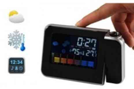 WooHooDeal - LED Light Projection Alarm Clock plus LCD Digital Weather Thermometer - Save 65%