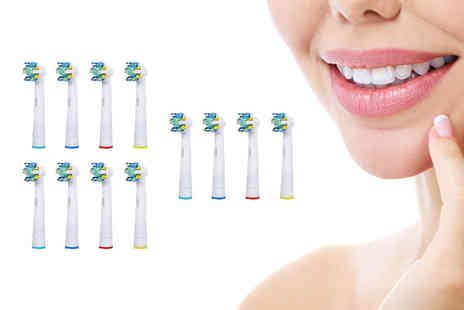 Bellap - Pack of 12 OralB compatible floss toothbrush heads. - Save 0%