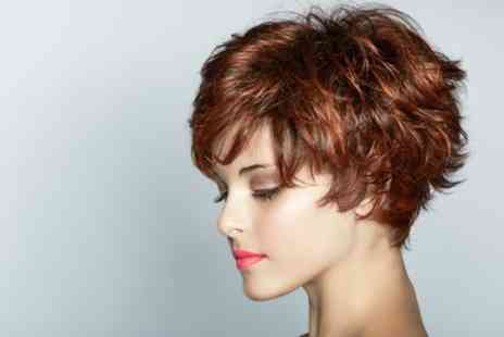 Monica at Glo Hair - Wash, Cut and Blow Dry with Option to Include Half Head of Highlights - Save 59%