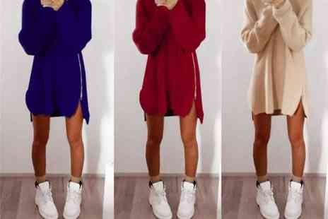 HONGKONG HUALIANDA - Oversized zip jumper choose from six colours - Save 75%