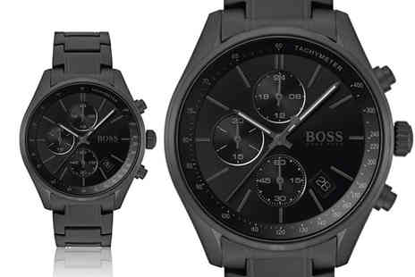 The Best Watch Shop - Hugo Boss mens grand prix all black watch - Save 63%