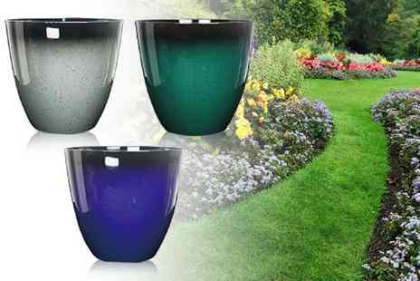 Eurotrade - 1ft glaze effect planting pot choose from three colours - Save 60%
