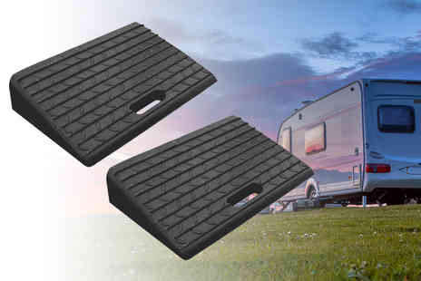 Who Needs Shops - Pack of of two mounted rubber kerb ramps - Save 74%