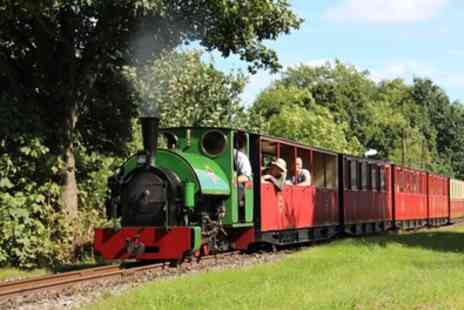 Kirklees Light Railway - Steam Train Tickets for Two Adults or Family of Four - Save 7%