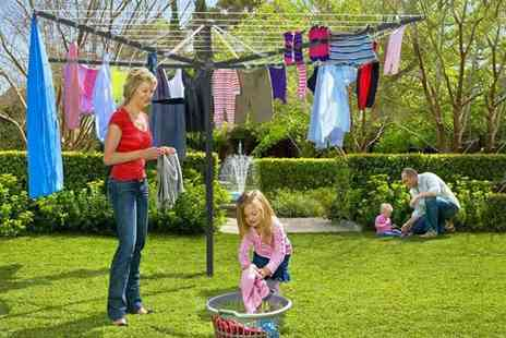 Direct2Public - 50 metre rotary washing line and clothes airer - Save 64%