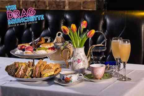 Zebrano - The Drag Brunchette Afternoon Tea or The Celebrity Drag Clash Brunch hosted by Vanity Von Glow with bottomless bellinis - Save 51%