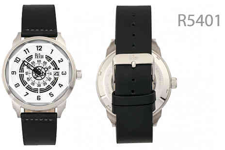 Ideal Deal - Reign Lafleur Mens Leather Watch Choose from 6 Colours - Save 86%