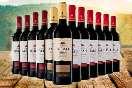 Q Regalo -12 bottles of Vina Albali Spanish red wine - Save 72%