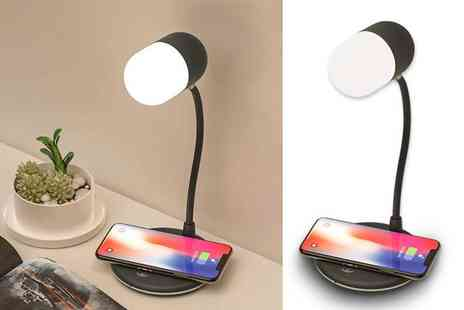 Magic Trend - 3 in 1 smart speaker and wireless charger lamp - Save 77%