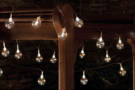 CJ Offers - Set of 20 solar glass bubble string lights - Save 73%