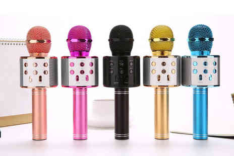 Impress Gadgets - Karaoke Bluetooth enabled wireless microphone Choose from two colours - Save 0%