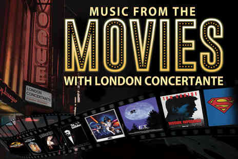 Candlelight Concerts - Ticket to the Music from the Movies performed by London Concertante with a CD and programme - Save 35%