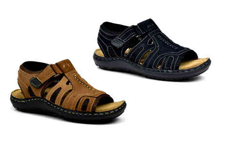 Shoe Fest - Pair of mens Velcro strap sandals - Save 0%