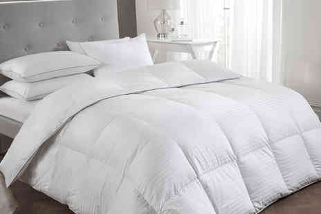 Cascade Home - Premium white goose feather down duvet choose from three sizes and two tog variations - Save 0%
