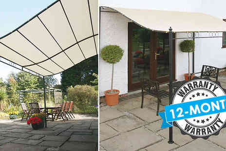 Gablemere - Easy Fit Wall Mounted Gazebo Choose from 2 Sizes - Save 17%