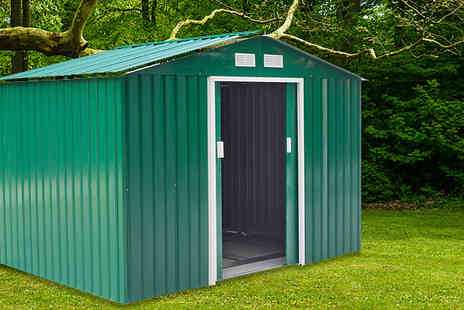 Mhstar - Large or XL Metal Garden Shed Choose from 2 Colours - Save 73%
