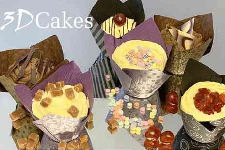 3D Cakes - Six luxury gourmet cupcakes - Save 65%