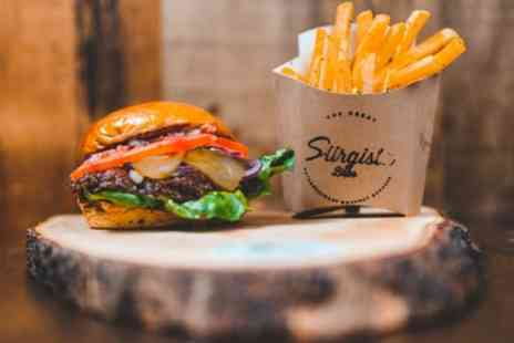 Siirgista Bros - Gourmet Burger, Fries and Free Flowing Soft Drink for Up to Four - Save 30%