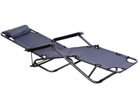 Mhstar - Adjustable Lounge Chair Choose from 5 Colours - Save 19%
