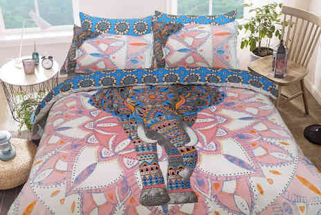 Five Minutes More - Mandala elephant bedding set choose from three sizes - Save 0%