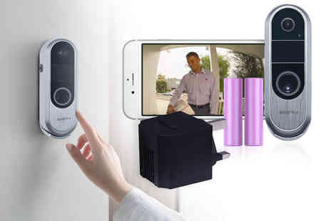 Ener-J - Wireless video doorbell with two way audio or wireless doorbell with chime and rechargeable batteries - Save 39%
