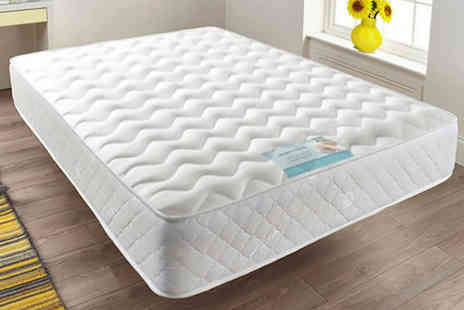 Dining Tables - Quilted sprung memory foam mattress choose from six sizes - Save 81%