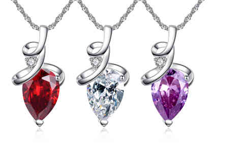 Your Ideal Gift - Large pear cut crystal pendant - Save 0%