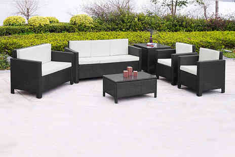 Dining Tables - Six piece durable polyrattan sofa set - Save 72%