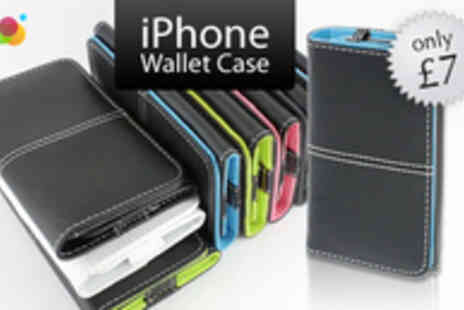 Simply Live - iPhone Wallet Case in 5 Colours - Save 77%