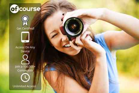 OfCourse - Online 200 module photography masterclass - Save 85%