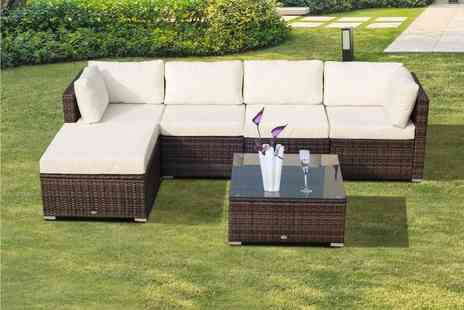 Mhstar - Six piece rattan garden furniture set - Save 62%