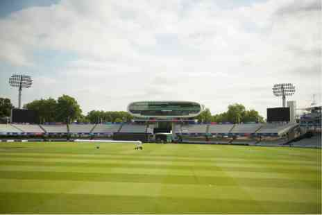 Lords cricket Ground - England Cricket Lunch with Drinks in The Long Room with Special Guests - Save 0%