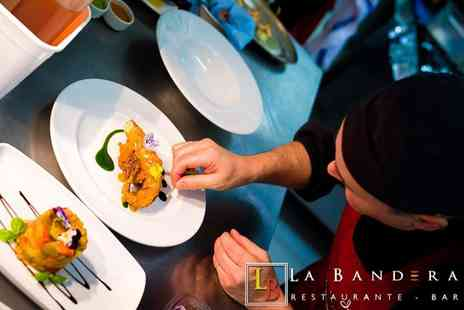 La Bandera Restaurante - Six tapas dishes for two with a glass of Cava or beer each - Save 64%