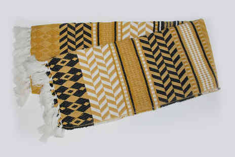 Cascade Home - Large Aztec throw - Save 48%
