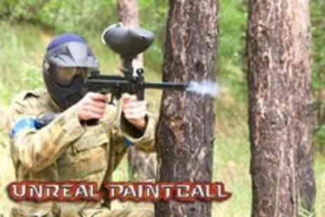 Unreal Paintball - Full day of paintballing with lunch and 100 paintballs - Save 88%
