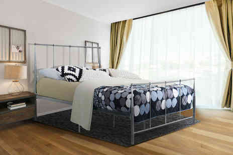 UK Furniture4U - Single metal bed choose your size and colour - Save 92%
