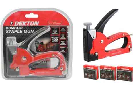 Groupon Goods Global GmbH - Dekton Professional Compact Staple Gun with Optional Extra Staples - Save 0%