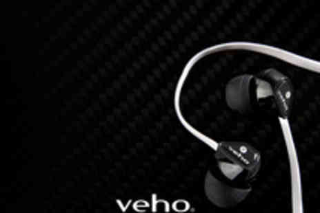 Dynergy - Veho Noise Isolating Anti Tangle Earbuds Earphones - Save 73%