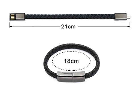 J Star Direct - Android & iOS USB Charger Bracelet Choose from 2 Colours - Save 50%