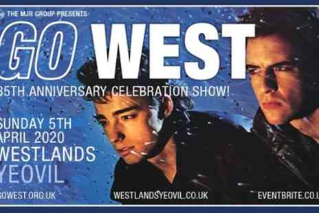 Alchemy Promotions - Two Tier 2 or 3 tickets to Go West 35th Annivarsary Celebration Show on 5th April - Save 51%