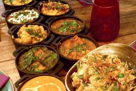 Ushas Indian Street Food - Indian Curry Feast with Rice and Naan for Up to Four - Save 60%