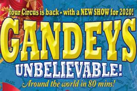 Gandeys's Circus - One side circle ticket from 23rd and 28th February - Save 58%