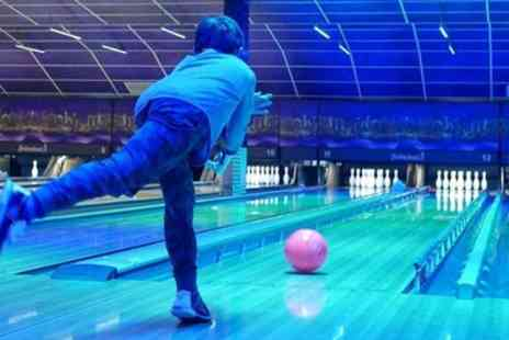 Rollerbowl at The City Pavilion - Two Games of Bowling with Pizza to Share for Two or Four - Save 43%