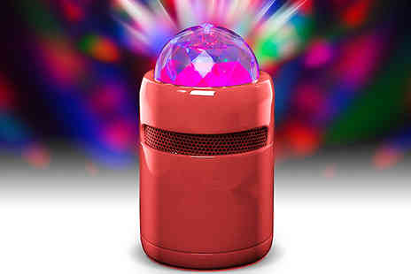 J Star Direct - Bluetooth Speaker With Rotating Party Light choose from 2 Colours - Save 50%
