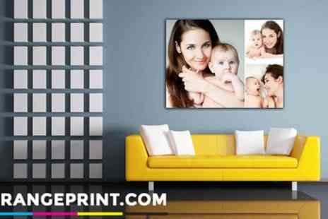 Grange Print - Personalised Photo Canvas in Choice of Size - Save 93%