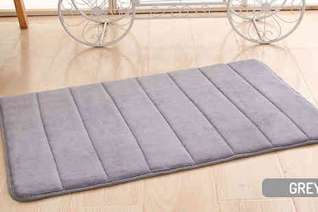 SecretStorz - 1, 2 or 4 Memory Foam Slip Resistant Rugs choose from 10 Colours - Save 60%