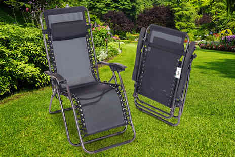 Who Needs Shops - One folding reclining garden deck chair - Save 71%