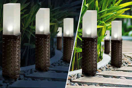 MBLogic - Durable polyrattan solar post light - Save 70%